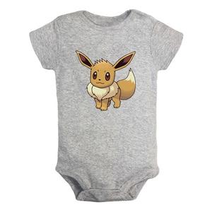 Одежда для новорожденных мальчиков и девочек с принтом «Pokemon Evee family Espeon Jolteon», хлопковые комплекты