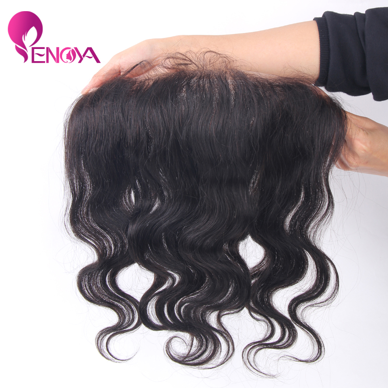 (US Stock) Enoya Hair Malaysian Body Wave Virgin Lace Frontal Lace Closure 13*4