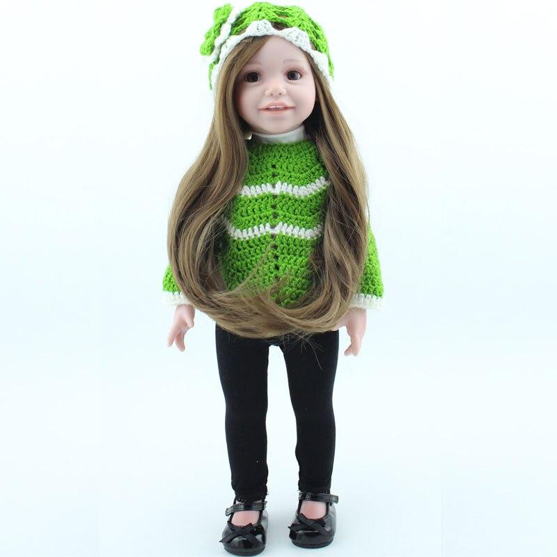 17Inch Soft Silicone Reborn Baby Doll American Girl Handmade Baby Doll Newborn Baby Toys Alive Bebe Reborn Realista Brinquedos