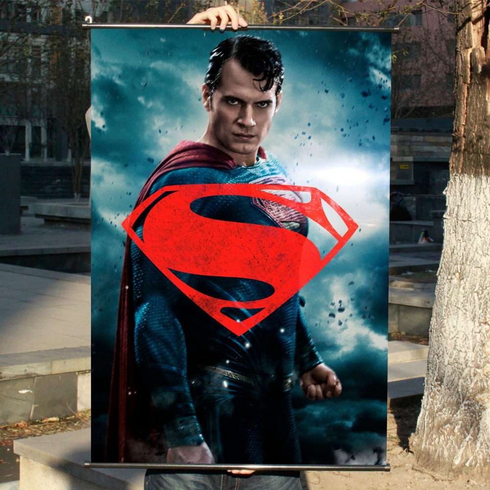 """batman V Superman"" Hd Gioco Scrolls Movie Poster Wall Sticker Striscioni Appesi Panno Impermeabile Arte Camera Da Letto Soggiorno Decorazione"