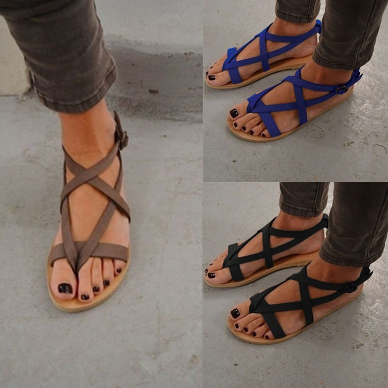 Fashion Footwear Women Summer Sandals Bohemia Gladiator Beach Flat Casual Sandals Leisure Female Ladies Summer Women Shoes DC56 2018 women summer slip on breathable flat shoes leisure female footwear fashion ladies canvas shoes women casual shoes hld919