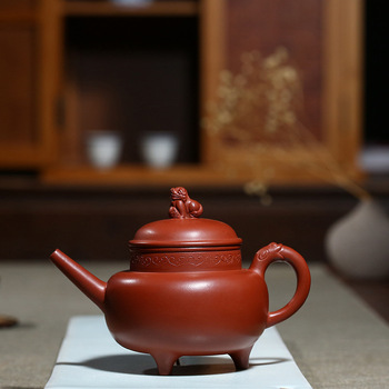 yixing are recommended by the manual undressed ore dahongpao three-legged benevolent pot of kung fu tea tea set