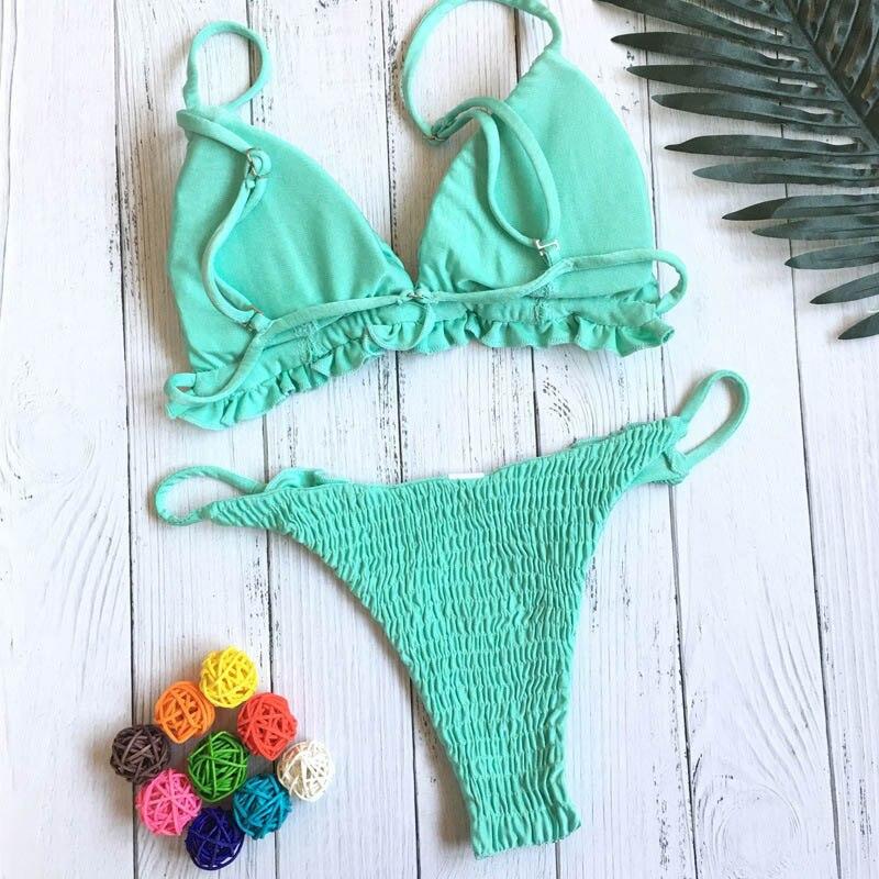 HTB1hdwzb6gy uJjSZR0q6yK5pXah Biquini Bandeau Sexy Pleated Bikinis Women Swimsuit Swimwear Female Brazilian Push Up Bikini 2018 Set Beach Wear Bathing Suit