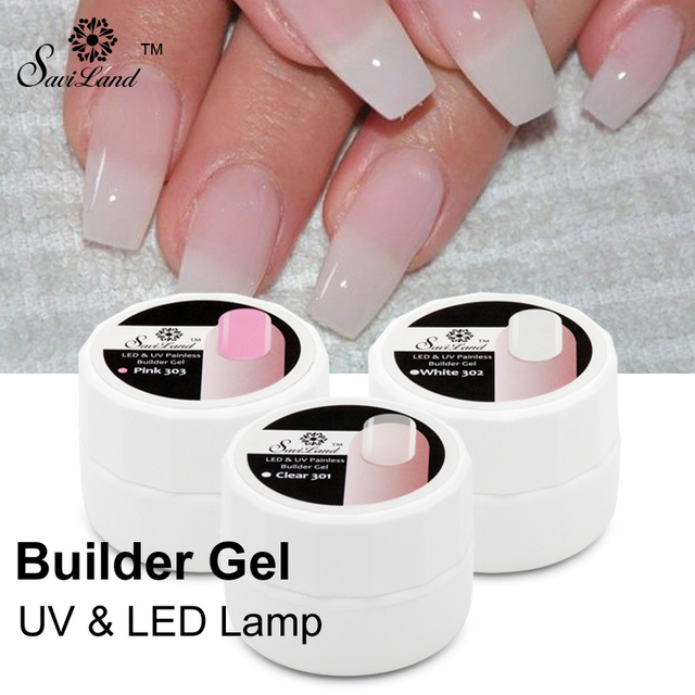 Saviland 1Pcs Professional Pink White Clear Color UV Gel Nails ...