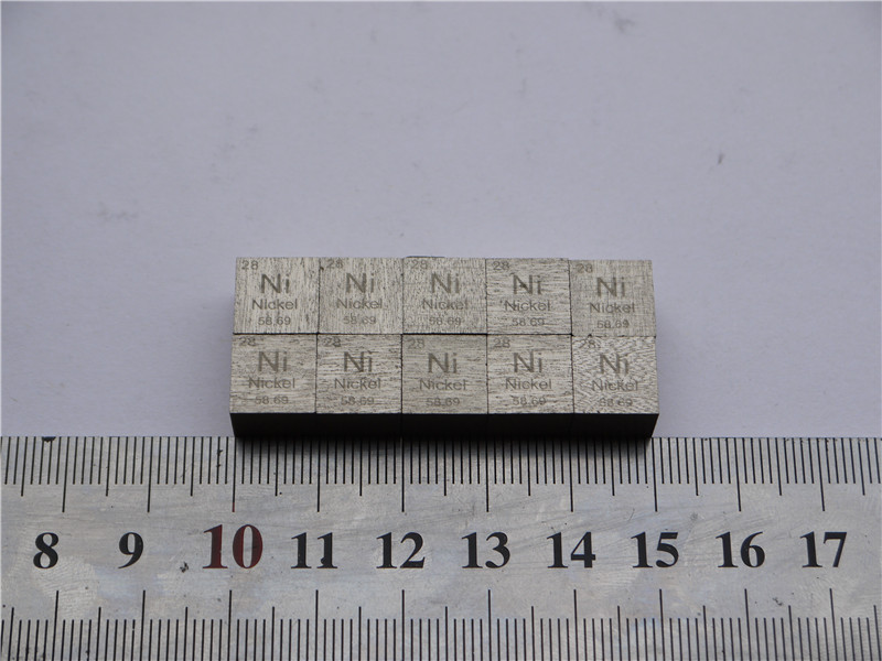 The nickel cycle phenotype weighs about 8.64g cubic 10mm Ni more than 99.5% 26 yuan tungsten cycle phenotype side length of the cube weighs about 19 16g 10mm w 99 95%