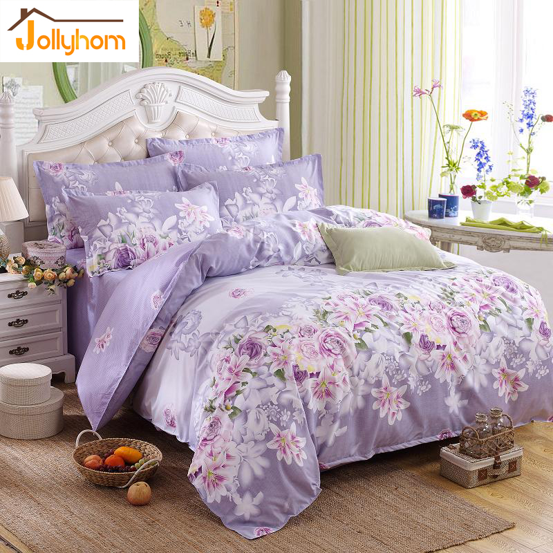 hot sale home textile 3 4pc bedding sets size for twin