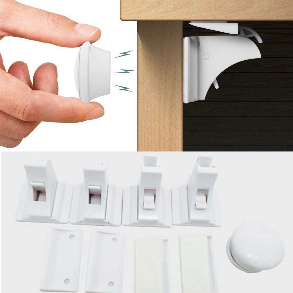 Clearance SaleChild Lock Drawer-Latch Cabinet-Door Magnetic Baby 3pcs 12 Infant