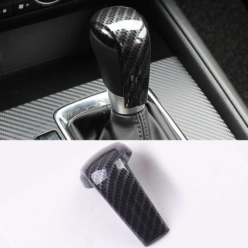 Mobil Gear Shift Knob Cover Gear Shift Handle Trim Stiker untuk Mazda 2 3 6 Axela Atenza CX-3 CX-5 CX5 CX8 CX-9 2017 2018 2019