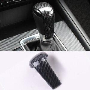 Car Gear Head Shift Knob Cover Gear Shift Handle Trim Sticker For Mazda 2 3 6 Axela ATENZA CX-3 CX-5 CX5 CX8 CX-9 2017 2018 2019(China)