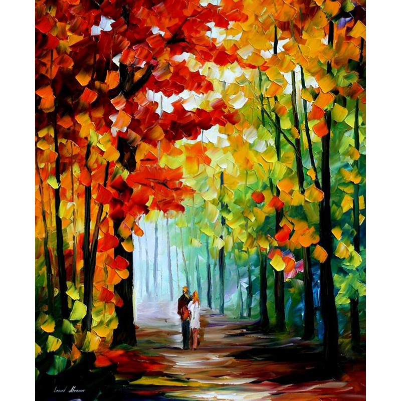 New arrival Hand Painted font b Knife b font landscape Oil Painting Paintings Modern Picture For