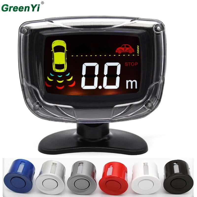 GreenYi P500 10 шт. оптовая продажа ЖК-дисплей Дисплей автомобиля Парковочные системы Системы автомобильный радар резервного Парковка Сенсор монитор с зуммером