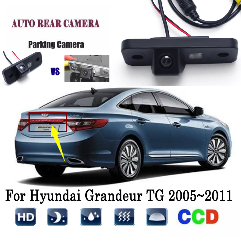 Reversing Camera For Hyundai Grandeur TG 2005~2011 Instead Of Original Factory License Plate Camera / RearView Camera