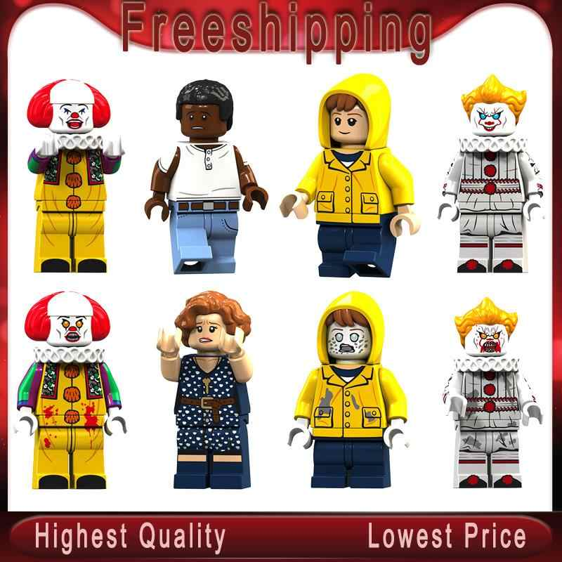 Pennywise Beverly Bill George Jacobs Escolhido Mike Stephen King é Boneca Xmas Gift Toy Blocks Brinquedos KT1012
