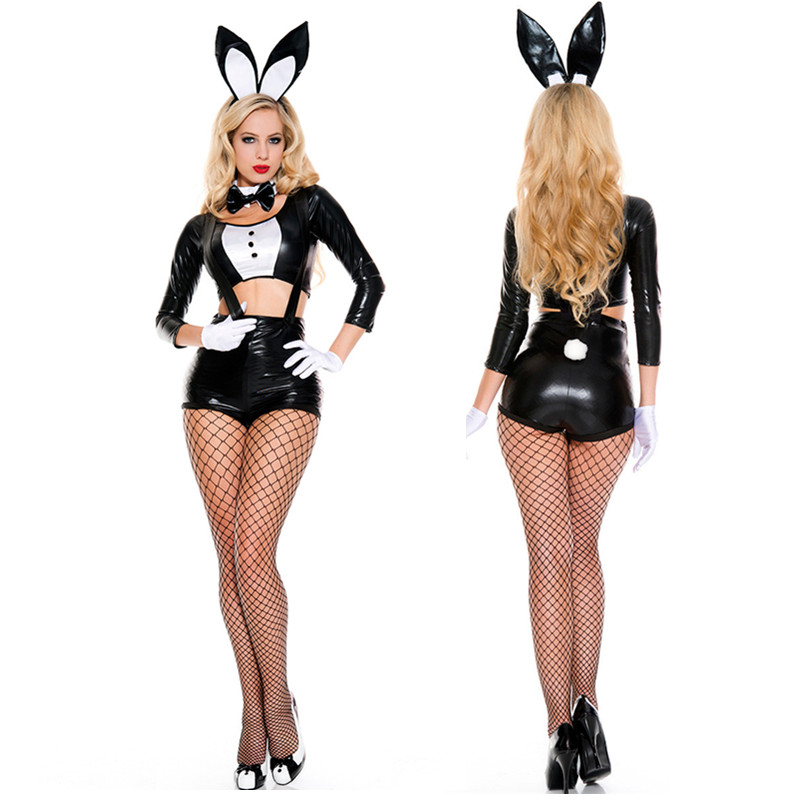 Sexy Bunny Costumes Rabbit Women Suspenders Lady Role -4394