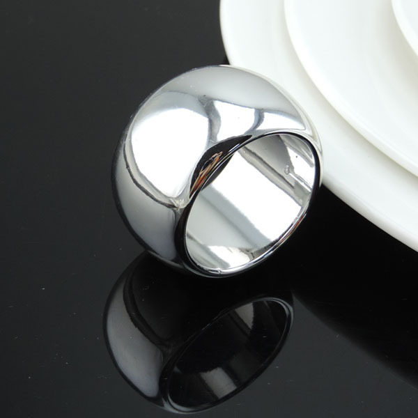 Free Shipping 12pcs Lot Silver Napkin Ring Buckle Holder For Hotel Dining Table