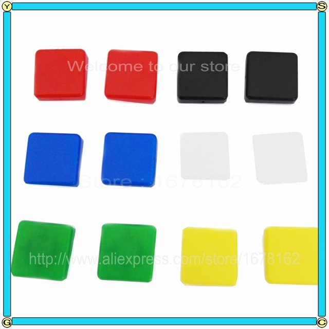 120pcs/lot square Tact Switches Cap applied for tactile Push Button Switch Momentary 12x12x7.3MM