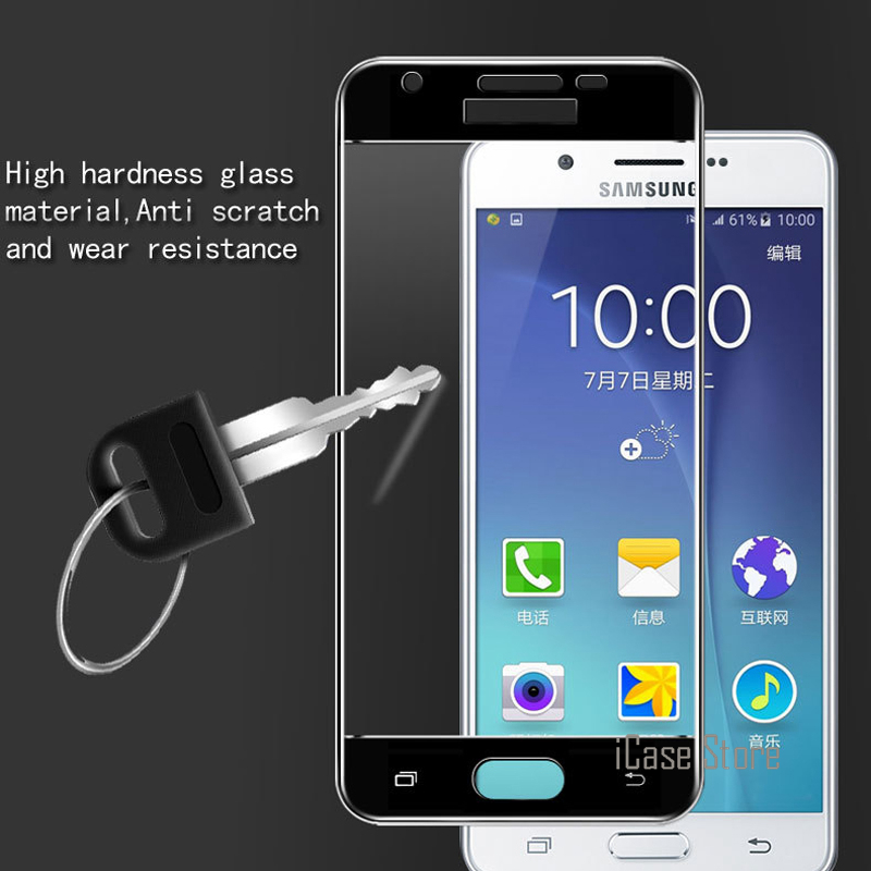 9H Full Cover <font><b>Screen</b></font> Tempered Glass For <font><b>Samsung</b></font> <font><b>Galaxy</b></font> <font><b>J3</b></font> <font><b>2017</b></font> <font><b>J330F</b></font>/<font><b>DS</b></font> J330G/<font><b>DS</b></font> European Version Protector Protective Flim Glas image
