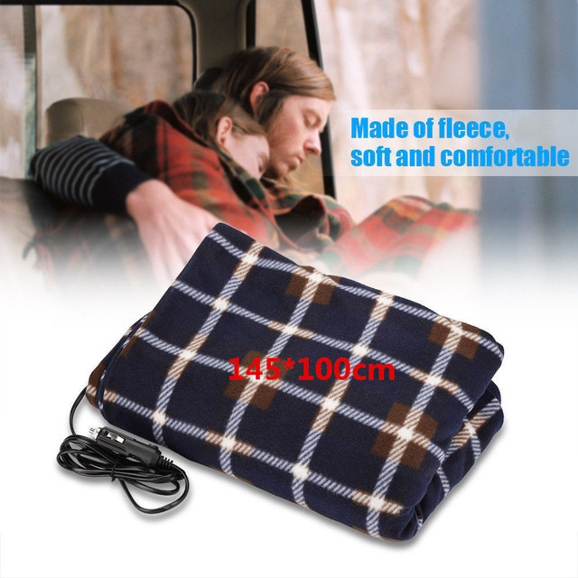 145 100cm Lattice Energy Saving Warm 12v Car Heating Blanket Autumn And Winter Electric Accessories Dropshipping