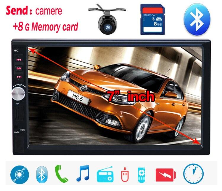 все цены на Durable 7'HD Touch Screen Car MP4 MP5 player BLUETOOTH hands free rear view camera automotivo free shipping онлайн