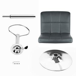 Image 3 - JEOBEST 2 יחידות אפור עור מפוצל מסתובב בר צואה כיסאות גובה מתכוונן דלפק פאב כיסא כיסאות הבר הגבוהים מודרני סגנון HWC