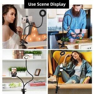 Image 5 - Anillo de luz LED regulable para Selfie en estudio fotográfico con soporte para teléfono móvil para lámpara de cámara de maquillaje Youtube para iPhone Android