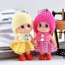8 см Детские игрушки Детские куклы Интерактивные мягкие подвесные Игрушки для девочек Творческие небольшие подарки мини игрушка +