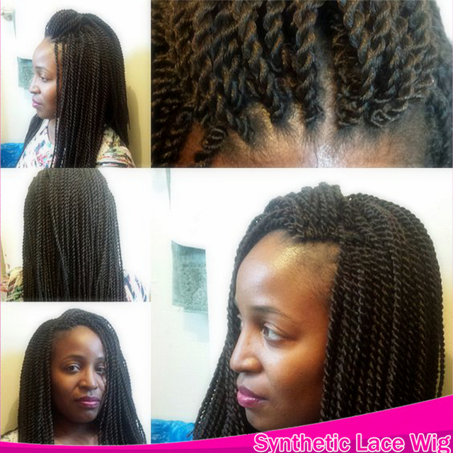 Long Micro Havana Twist Crochet Braided Lace Front Synthetic Braids