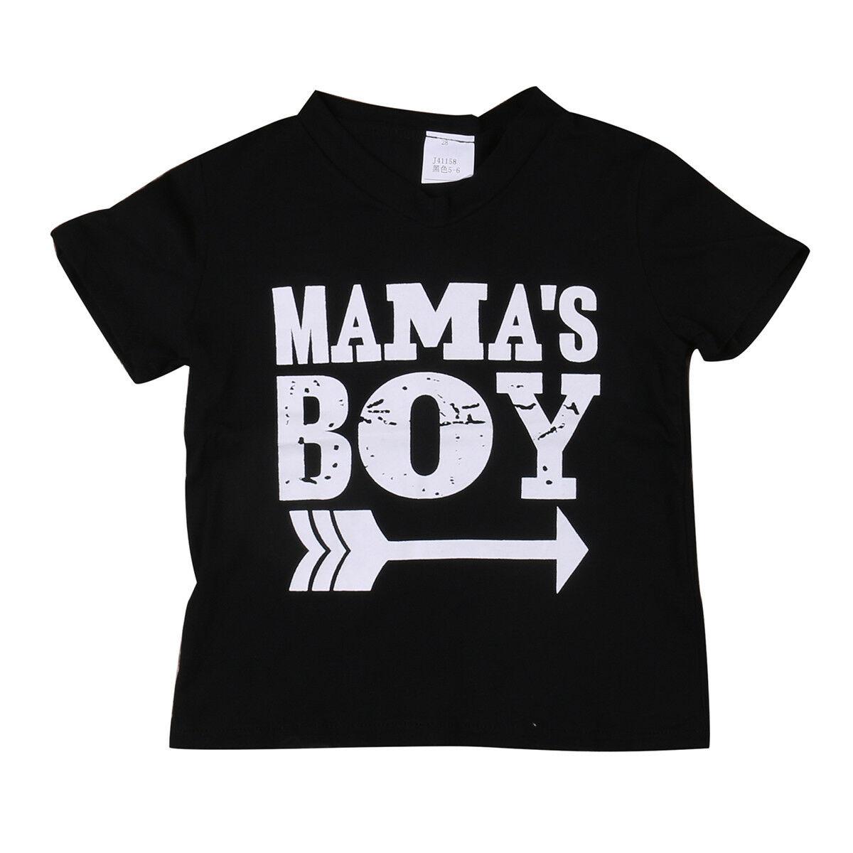 T-Shirt Tops Newborn Toddler Infant Baby-Boys Kids Cotton Children Summer Letter 0-24M