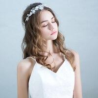 Rhinestone Beads Headband Hair Ornaments Princess Bridal Wedding Headdress Crown Tiara Trendy Party Girls Headpiece Jewelry Gift