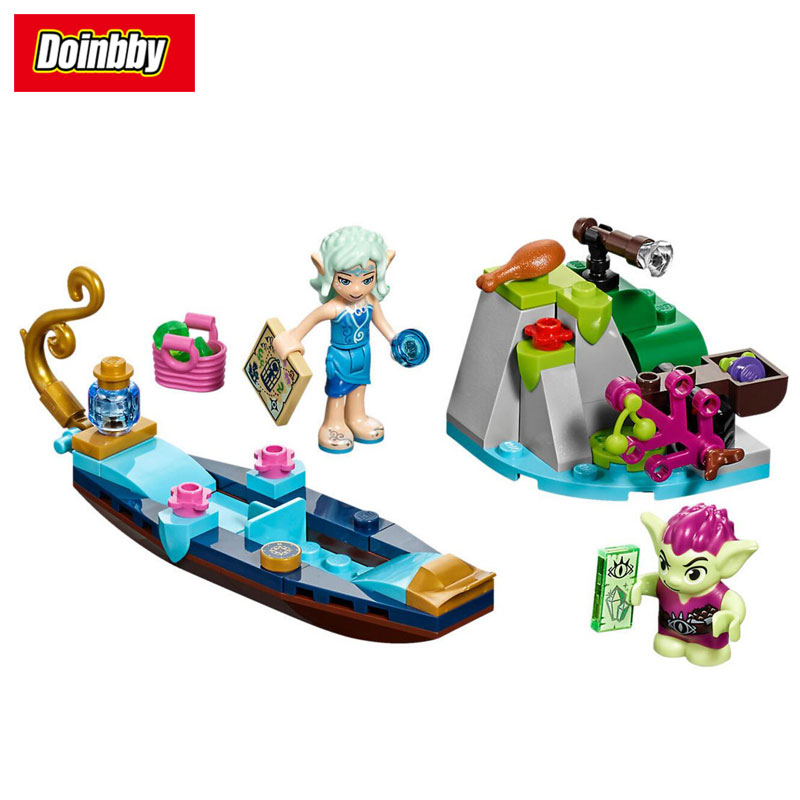 10692 Naida's Gondola & the Goblin Thief Building Block Brick Toys Kid Gift 70Pcs Compatible with legoings Girl Friends 41181 kid s home toys 70pcs set the number fruit train number paradise model large particles block brick kid toy compatible with duplo