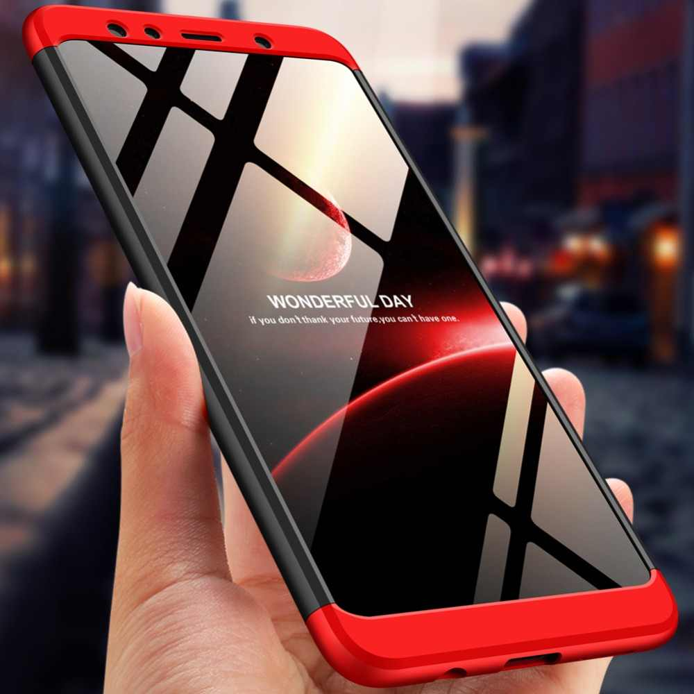 For Galaxy A7 2018 Full Protection Hard PC Shockproof Case For Samsung  Galaxy A7 2018 A750F SM-A750FN/DS SM-A750X Tempered Glass