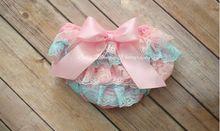 Bloomers юбкой рюшами атласные младенца пеленки малышей новорожденных милый хлопка цветок