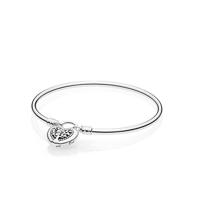 40a52c3ec Brand logo charms silver 925 original Limited Edition Flourishing Heart  Padlock Bangle Moments exhilarating fashion bracelet