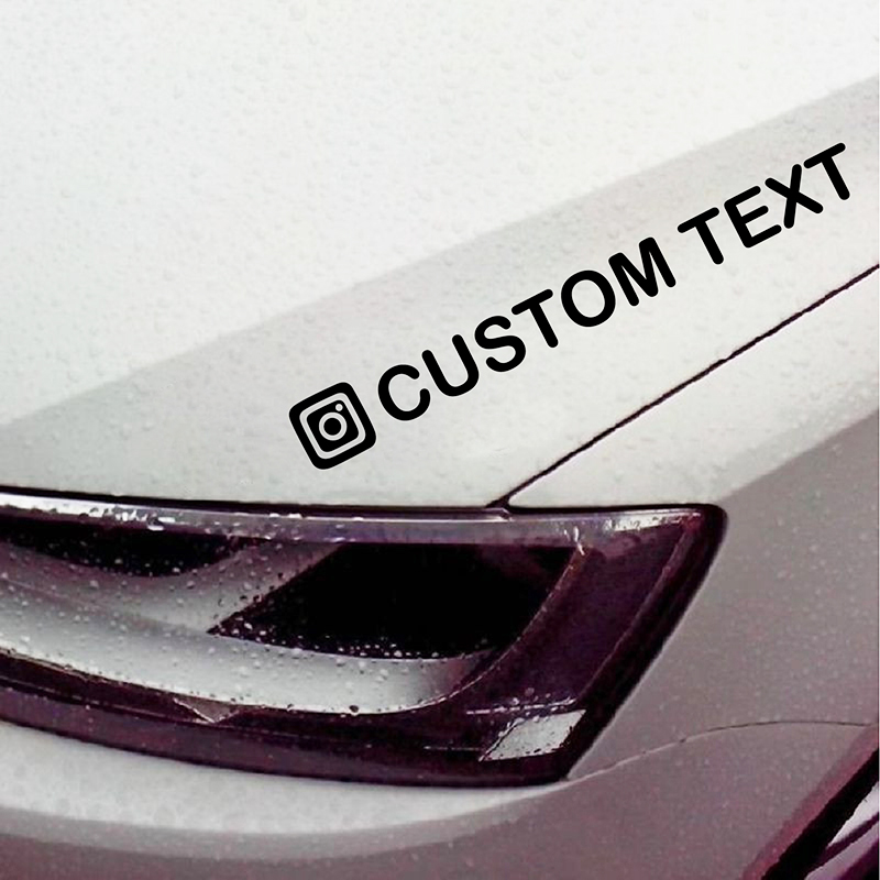 Image 2 - Personalized Custom Instagram Username Waterproof Car and Motorcycle Decals Bumper Sticker-in Car Stickers from Automobiles & Motorcycles