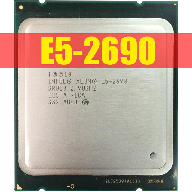 Intel Xeon Processor E5 2690 E5 2690 Eight Core 2.9G SROL0 C2 LGA2011 CPU 100% working properly PC Server Desktop Processor