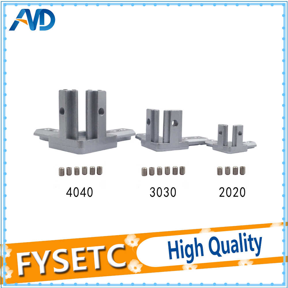 4pcs new 3d printer 2020 3030 4040 t slot aluminum profile 3 way 90 deg  [ 1000 x 1000 Pixel ]
