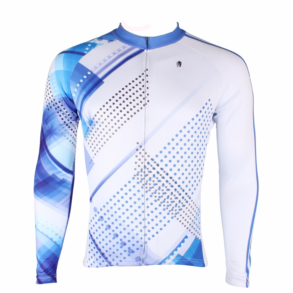 ILPALADINO Mens Cycling Jerseys White And Blue Streak Roupa Ciclismo Team Apparel Outdoor Off Road Bike Outdoor Sportswear