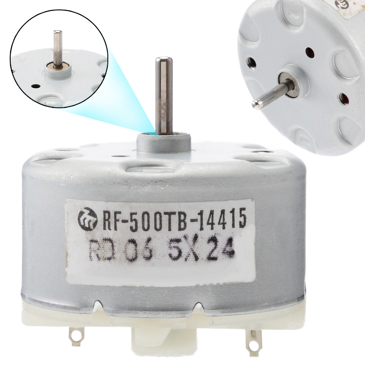 DC 1.5V~6V 8000RPM Mini RF-310 Solar Power Motor 24mm Small Round Toy Motor DIY