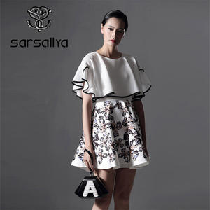 fbdc3951366 SARSALLYA 2018 Summer Women s Clothes Sleeves Dress