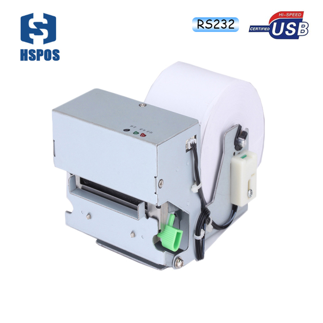 High quality 2 inch rs232 and usb panel mount thermal printer parking ticket machinehigh speed and low noise printing
