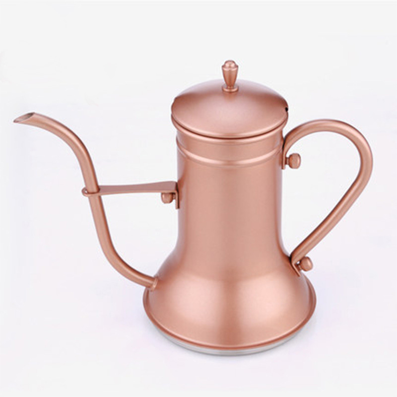 Coffee pot long mouth court fine mouth pot stainless steel magic lamp hand punch pot easy to control sailor coffee pot 016