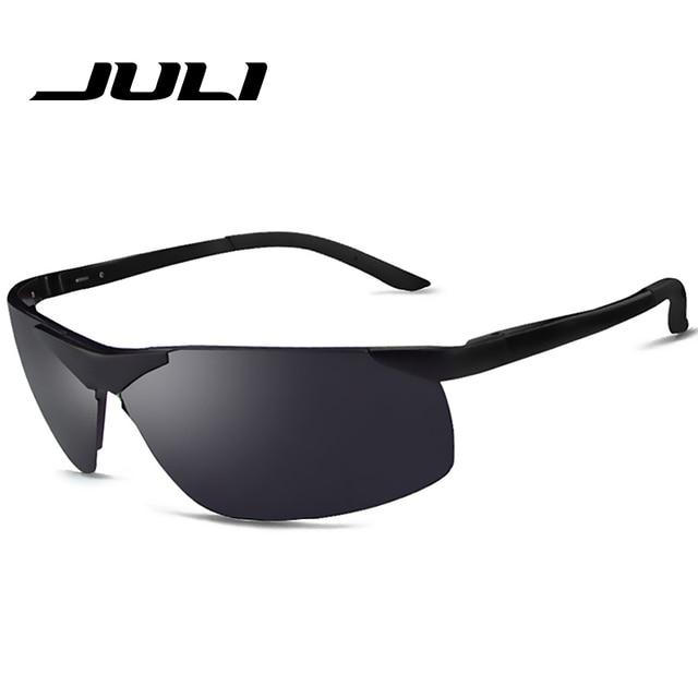 57b74527f JULI Polaroid Óculos De Sol Dos Homens Polarizados Condução Óculos de Sol  Dos Homens Óculos De