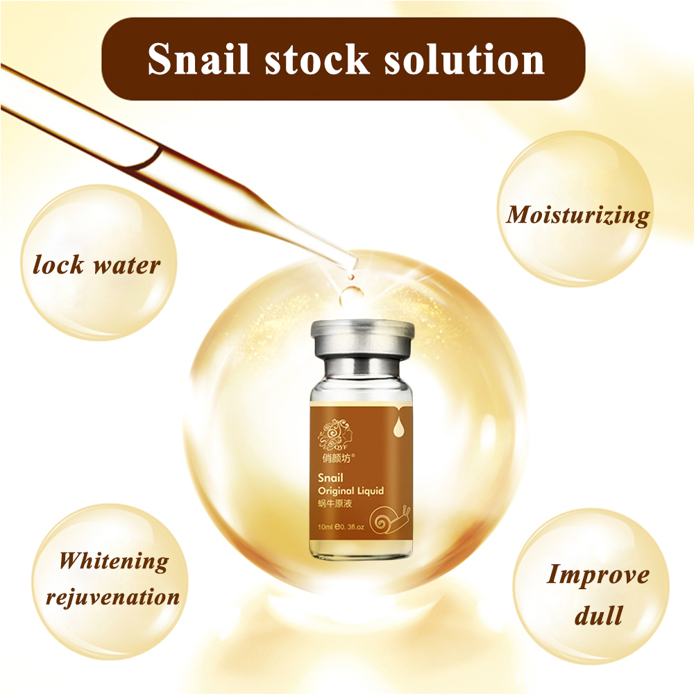 QYF gold Snail extract white Serum Cream face scars skin care Rejuvenation beauty Hyaluronic acid ampoules anti acne 10ml