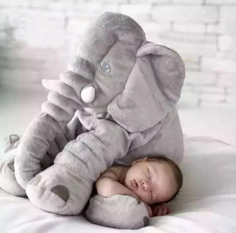 2018 Mignon Bébé Éléphant Animal Style Poupée En Peluche Peluche Jouet Oreiller Enfants Enfants Chambre Chambre Décoration Sommeil Gris Amour Jouets 60 cm
