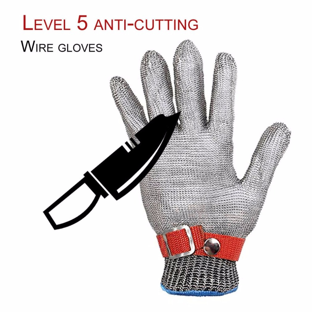Safety Hig quality Safety Cut Resistant Proof Protect Glove 100% Stainless Steel Metal Mesh Butcher Gloves anti cut safety glove hppe cut resistant work glove
