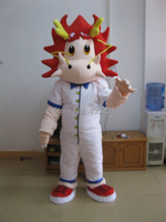 POLYFOAM high quality costume red hair dragon mascot costumes