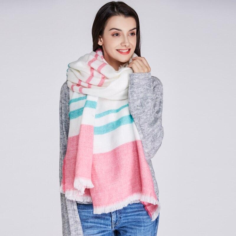 639a5a43819d QC mode femmes écharpe couverture chaude d hiver cachemire foulards et châles  épais bandana echarpe ...