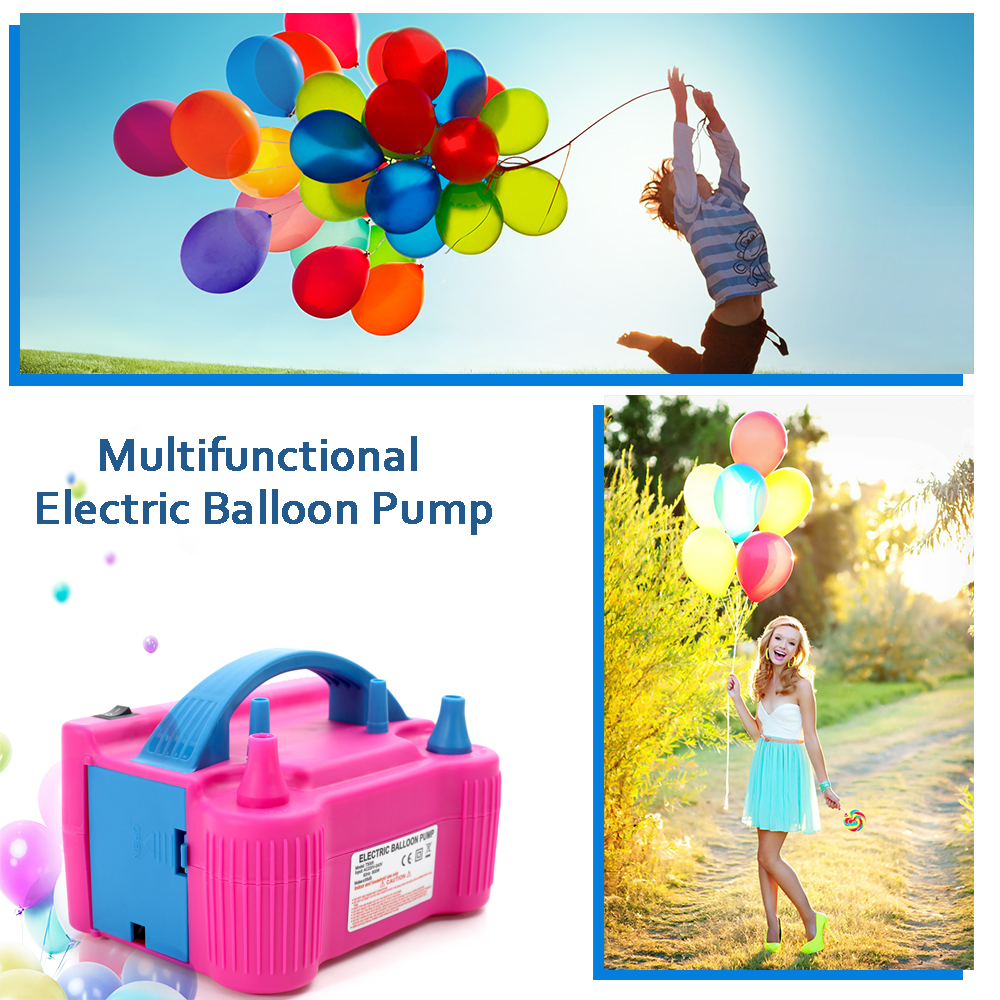 Image 5 - 110V/220V Electric High Power Inflating Two Nozzle Air Blower Fast Portable Inflatable Tool Electric Balloon Inflator Pump-in Blowers from Tools on