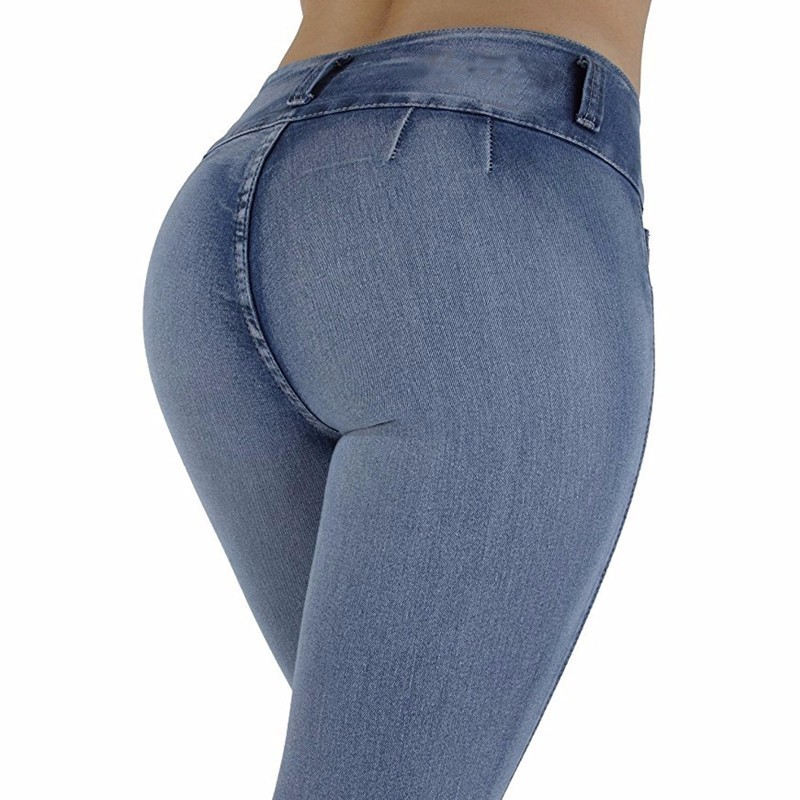 Women   Jeans   High Waist Skinny Butt Lifting Elastic Bodycon Pencil Sexy Push Up Hip Cotton Ladies   Jeans   Femme Denim Pants