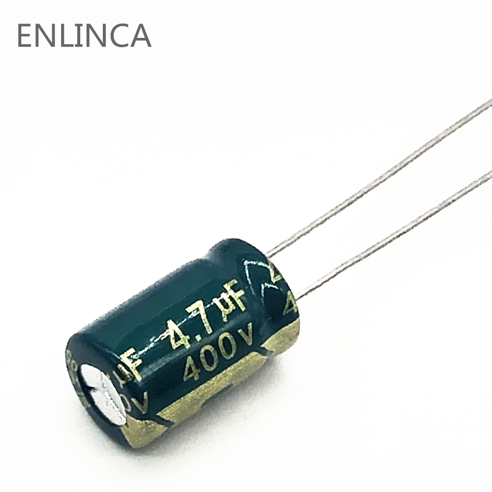 10pcs/lot 400v 4.7UF High Frequency Low Impedance 400V 4.7UF Aluminum Electrolytic Capacitor Size 8*12 S22 20%
